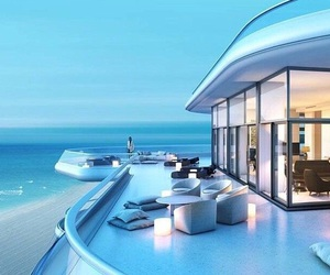 home, luxury, and beach image