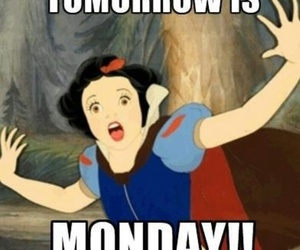 monday, snow white, and disney image