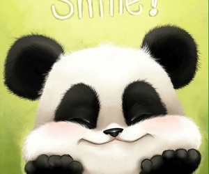 panda and smile image