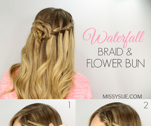 braid, tutorial, and girl image
