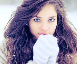 cold, eyes, and hair image