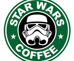 star wars, coffee, and starbucks image