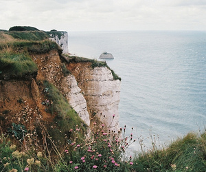 cliffs, nature, and waves image