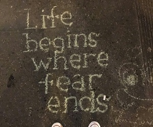 fear, life, and inspiration image