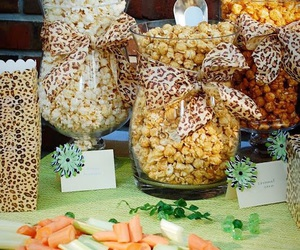 party food, baby shower ideas, and cheetah theme image