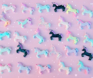 unicorn, pink, and pastel image