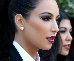 kim kardashian, makeup, and kim image