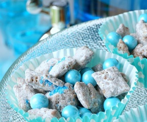 baby shower ideas, party food, and puppy chow image