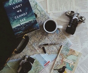 book, travel, and map image