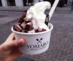 food, chocolate, and ice cream image