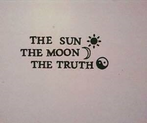 moon, sun, and truth image