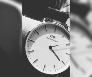 black and white, watch, and dw image