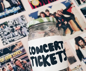 concert tickets, concerts, and money jar image