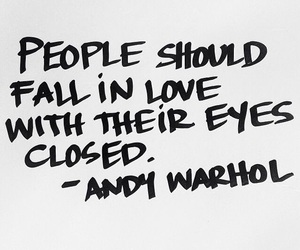 quotes, love, and andy warhol image