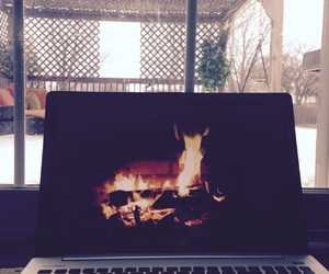 cold, tumblr, and fireplace image