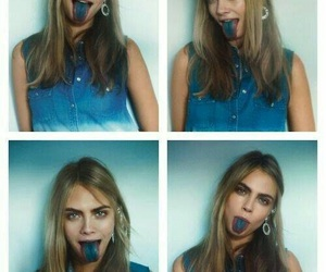 model, cara delevingne, and blue image