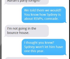 conversation, NYE, and party image
