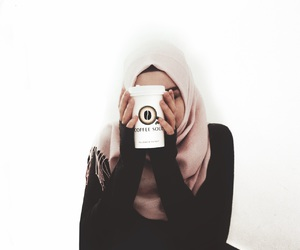 hijab, хиджаб, and coffee soul image