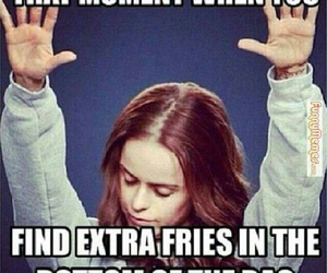 funny, fries, and food image