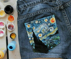 art, shorts, and van gogh image