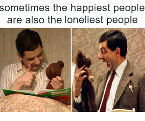 funny, happy, and lonely image