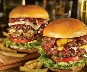 food, hamburger, and burger image