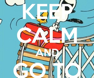 keep calm and snoopy image