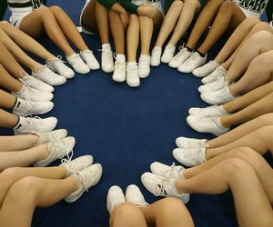 cheer, heart, and cheer team image