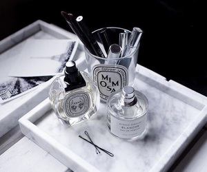 marble, perfume, and white image