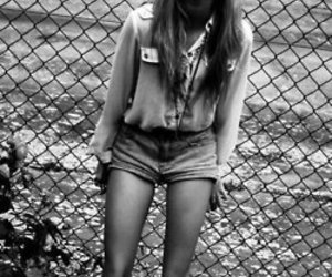 girl, skinny, and black and white image