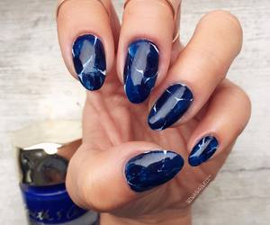 black, blue, and blue nails image
