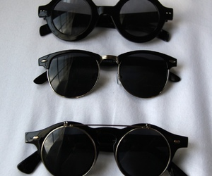 black, sunglasses, and glasses image