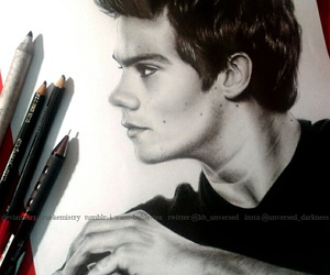 dylan o'brien, drawing, and art image