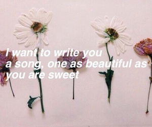 one direction, flowers, and Lyrics image