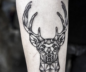 deer, fashion, and tatto image