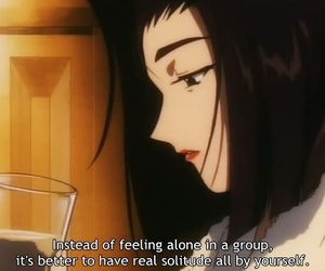 anime, lonely, and quote image