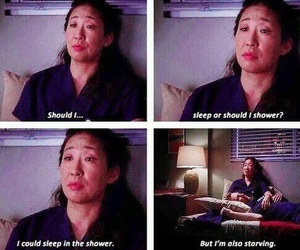 grey's anatomy, funny, and sleep image