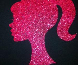 pink, barbie, and black image