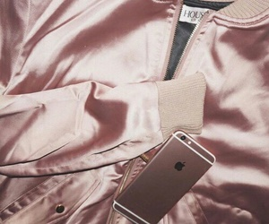 rose gold, pink, and iphone image