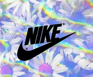 flower, neon, and nike image
