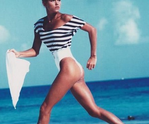 80s, beach, and model image