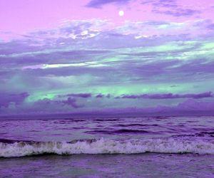 purple, sea, and beach image