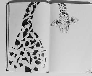 drawing, giraffe, and art image