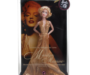 barbie, doll, and Marilyn Monroe image