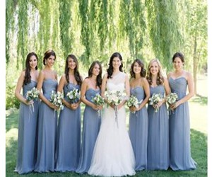 dresses, wedding, and bridesmaid dresses image