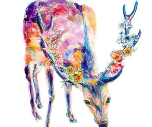 deer and flowers image