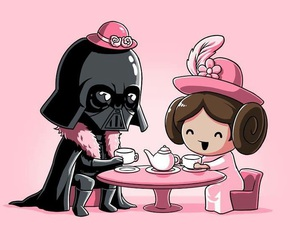 star wars, darth vader, and pink image