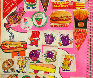 Collage, food, and sticker image