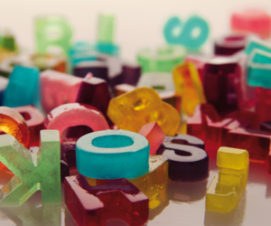 alphabet and colors image