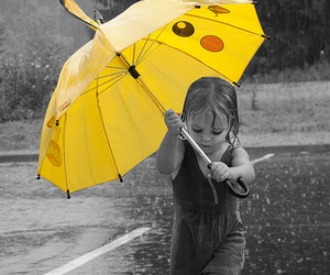 rain, umbrella, and pikachu image